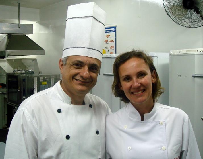 Eu e o meu professor, o Chef Alex Selem