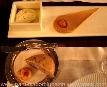 Couvert: pães caseiros e pasta de alho