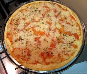 Passo 4 - Assar a pizza em forno alto