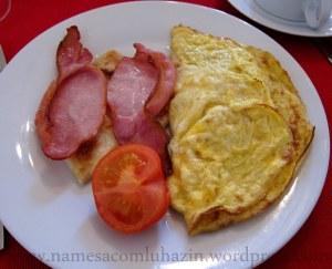 Café da manhã preparado pelo David