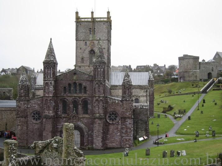 St David's Cathedral é a maior do País de Gales, foi construída no séc. 12.