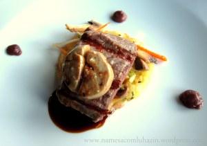 Mignon com foie gras do D.O.C