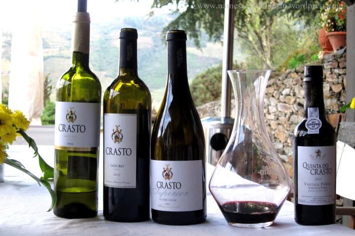 Seleção de vinhos secos que tomamos na Quinta do Crasto