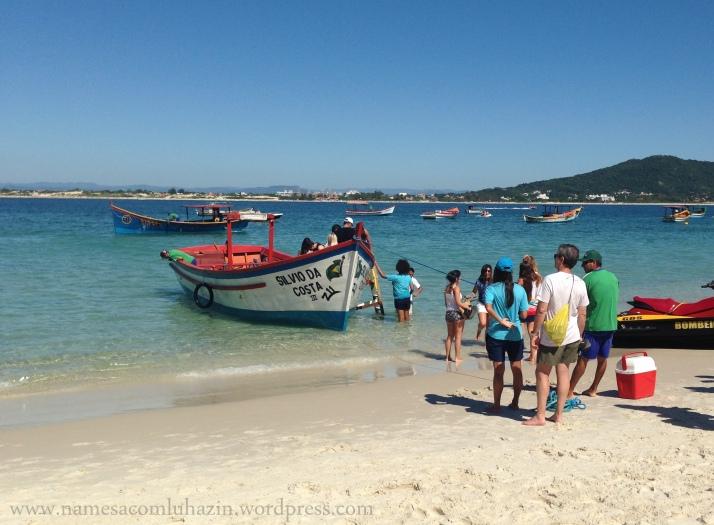 Chegada na Ilha de Campeche
