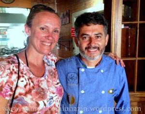 Eu e o Chef Jaime Barcelos do Ostradamus