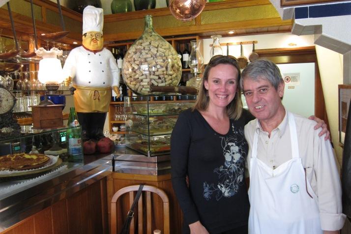 Eu e Manuel, proprietário do Tasquinha d'Oliveira