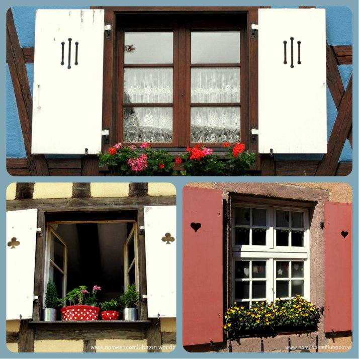 Algumas das poucas janelas floridas na Alsácia