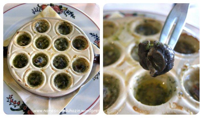 Escargots do restaurante Hansi