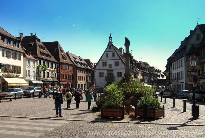 """Place du Marchê"", em Obernai"