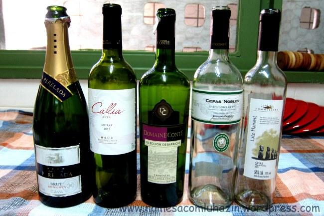 Vinhos que tomamos ao longo da noite