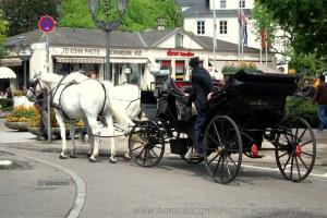 Charrete no centro de Baden-Baden