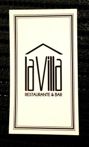 Cartão com a logomarca do bistrô