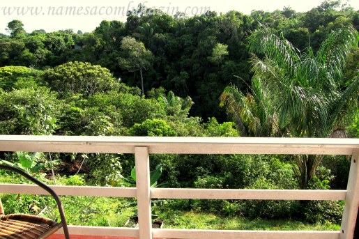 Minha varanda na Pousada Tarântula, em Novo Airão