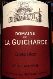 Vinho francês, Côtes du Rhône que tomamos durante o jantar