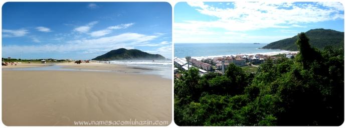 Praia do Santinho (à esq) e Praia Brava, em Florianópolis