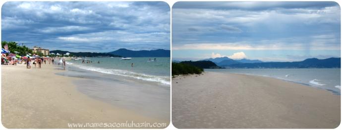 Praias de Jurerê Internacional (à esq.) e Daniela, em Florianópolis