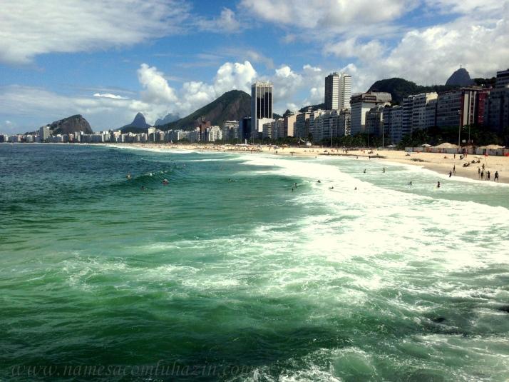 Vista da Praia do Leme e Copacabana a partir do Caminho dos Pescadores