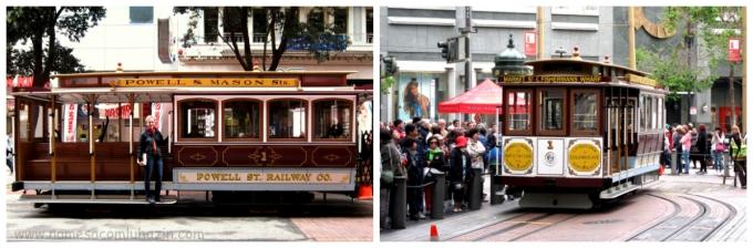 Bondinho no centro de São Francisco, próximo à Union Square