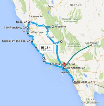 Meu roteiro de viagem à Califórnia