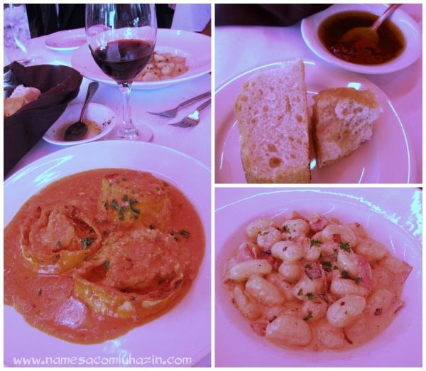 Pratos do restaurante Ciao Pasta, em San Juan Capistrano