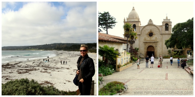 Praia de Carmel e Missão Carmel, fundada em 1770