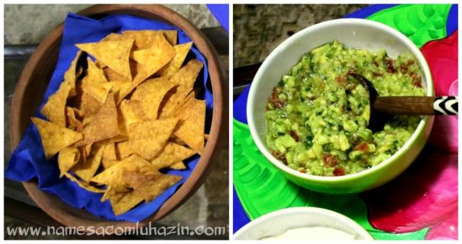 Nachos com guacamole