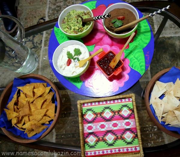 Nachos e pastinhas mexicanas  para receber os convidados