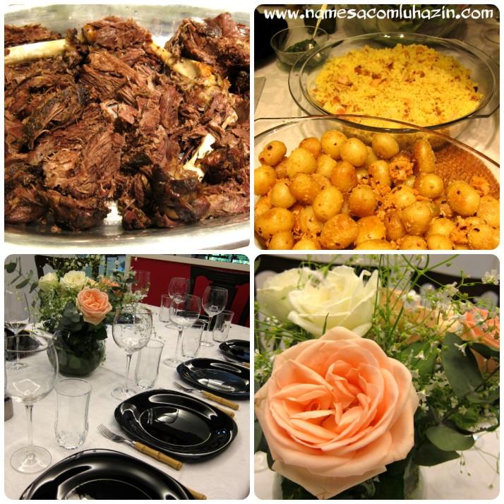 Almoço do dia dos pais: pernil de cordeiro, geleia de hortelã, cuscuz marroquino e salada verde
