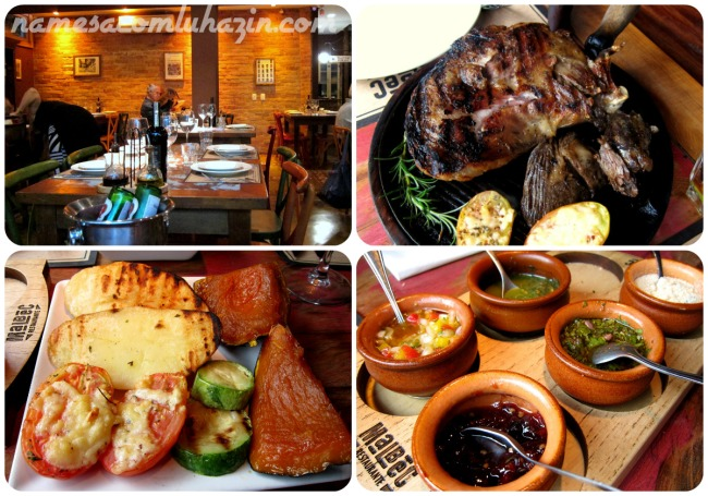 Restaurante Malbec em Gramado. Recomendo a paleta de cordeiro!