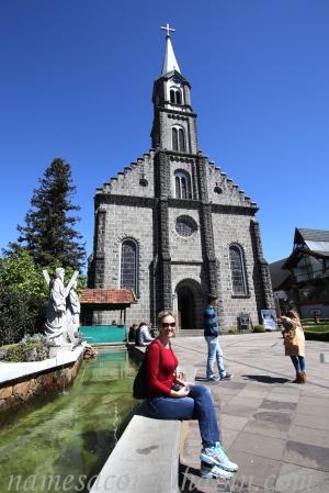 Igreja Matriz de São Pedro, no centro de Gramado