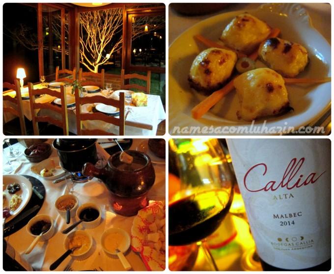 Nosso jantar de sábado à noite: canapés de cebola e festival de fondue