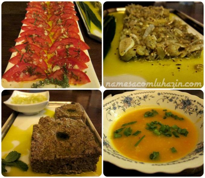 Nosso jantarzinho na noite de quinta feira na Pousada Calçada São José
