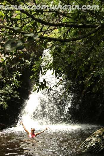 Cachoeira em algum ponto da trilha