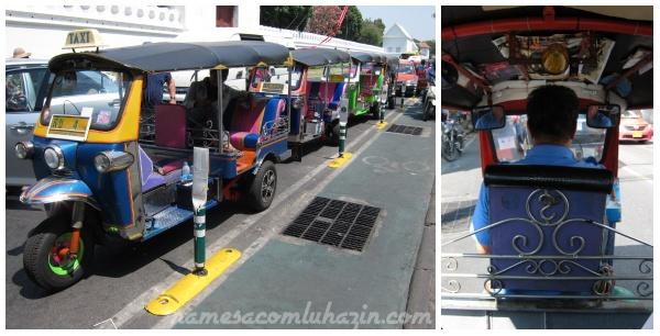 Tuk-tuks em Bangkok