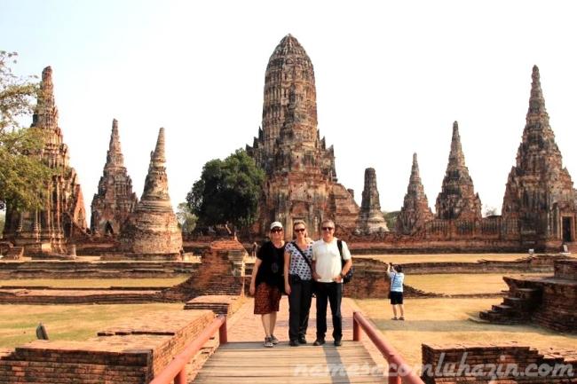 O belo Wat em Ayutthaya