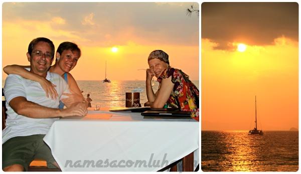Nosso segundo e último por do sol em Railay Beach