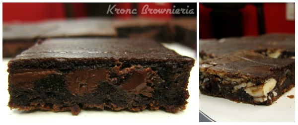 Brownies de Nutella e Chocolate Branco da Kronc Brownieria