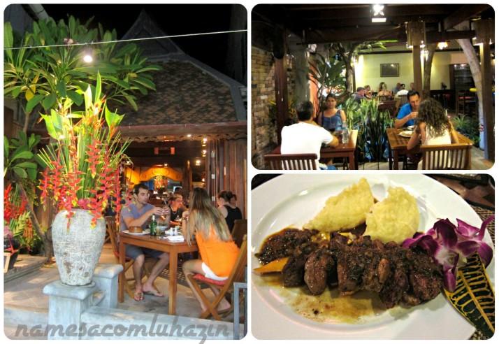 Le Grand Bleu, excelente restaurante francês na ilha Phi Phi