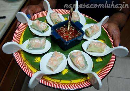 Summer rolls tailandeses