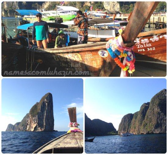 Saída de Phi Phi para a Phi Phi Lee, ilha onde está a famosa Maya Beach