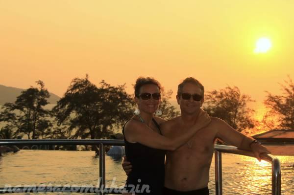 Por do sol em Phuket