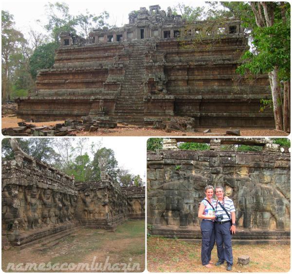 Phimeanakas (acima) e Esplanada dos Elefantes