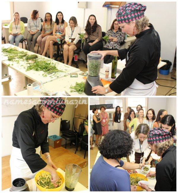 """Preparando o molho """"pesto"""" - Fotos Juliana Henning (ASCOM TRE-RJ)"""