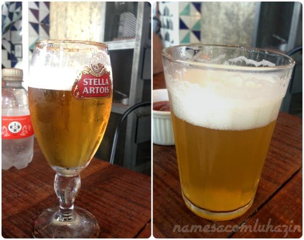 Chopps Stella Artois e Riba Pilsen