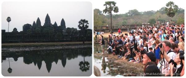 Nascer do Sol em Angkor é visto por centenas de pessoas diariamente