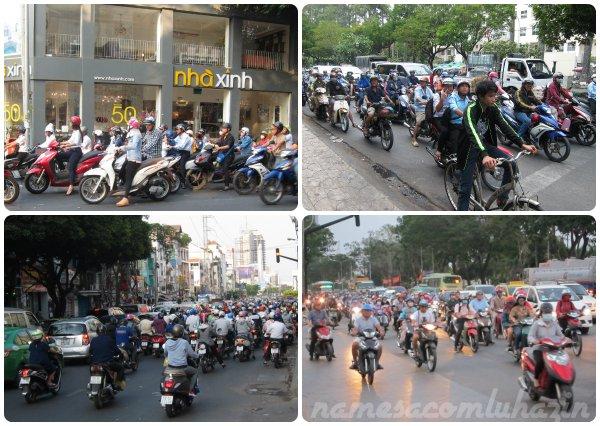 Trânsito infernal nas ruas de Ho Chi Minh