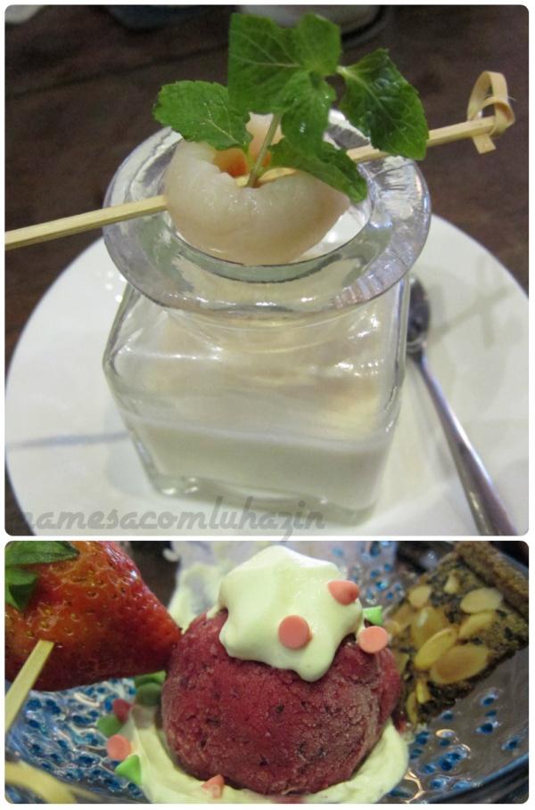 Sobremesas exóticas do Restaurante Khanhcasa