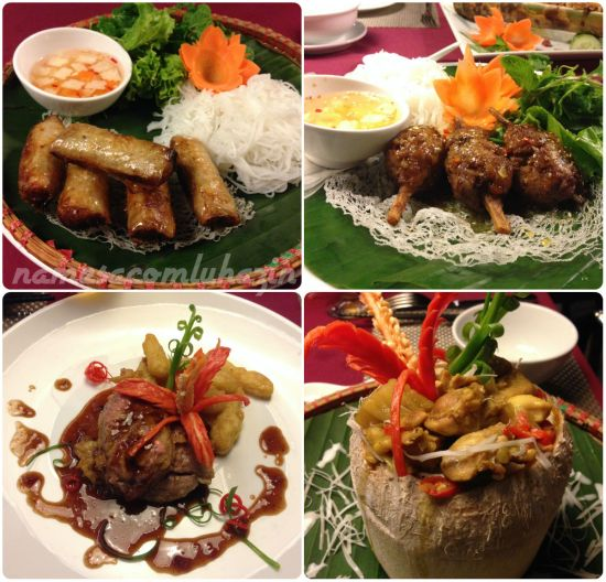 Pratos do Gia Ngu, no Essence Palace em Hanói