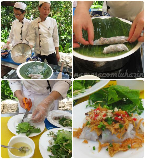A Chef e a Souschef nos ensinam a fazer os spring rolls