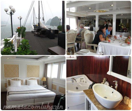 Signature One - Barco em que ficamos 2 noites em Halong Bay
